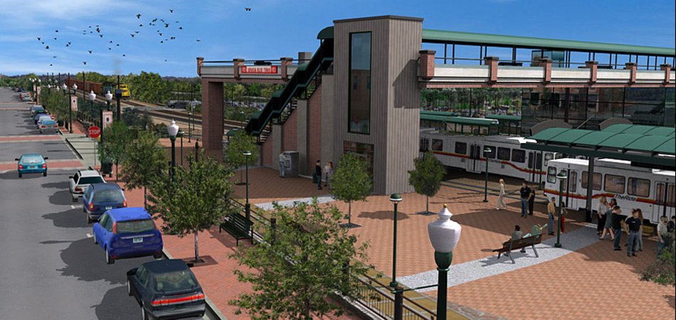 Project: Proposed light rail station & overpass in Olde Town, Arvada, Colorado