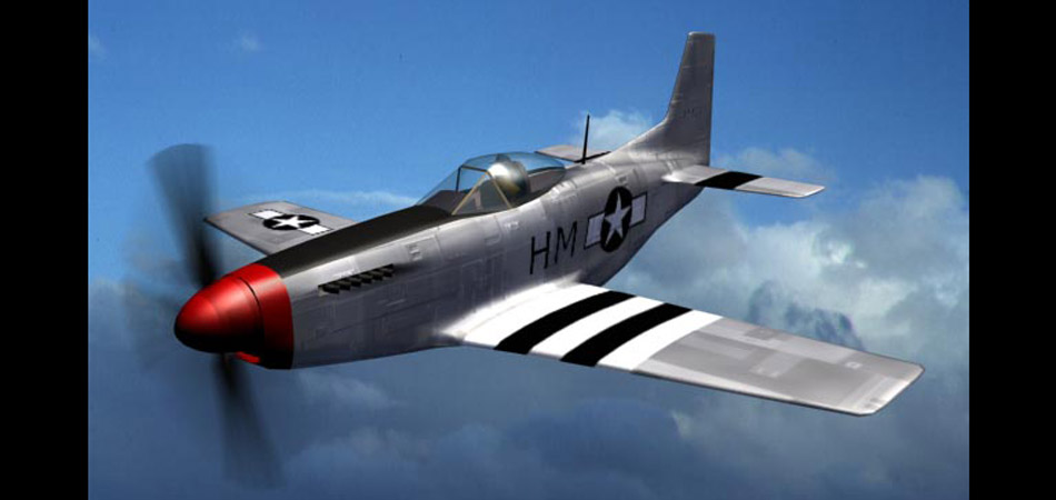 In-house model: P51 mustang